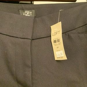 LOFT NWT black pants size 4P